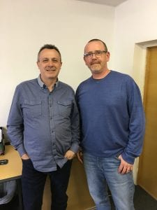 Kevin McNally and Phil Clark