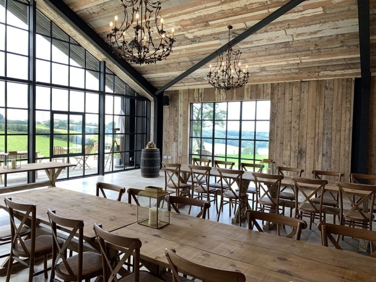 The dining area at Botley Hill Barn