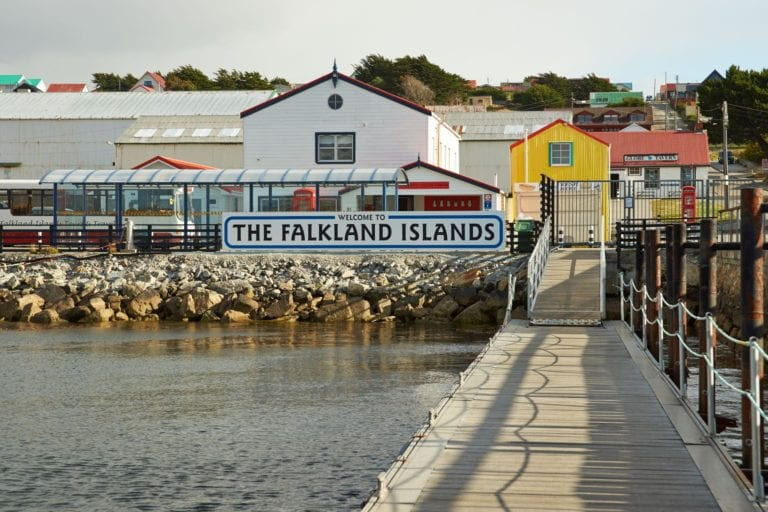 The Falkland Islands jetty
